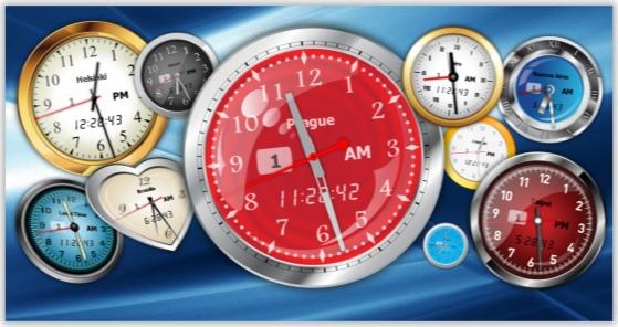 Desktop Customization Software, Vector Clock Pro Screenshot