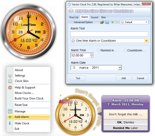 Vector Clock Pro Screenshot