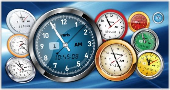 Vector Clock Pro, Clock Software Screenshot