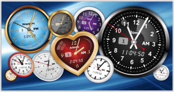 Vector Clock Pro, Desktop Customization Software Screenshot