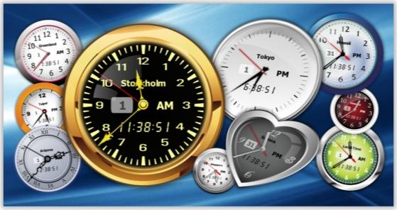 Desktop Customization Software, Clock Software Screenshot