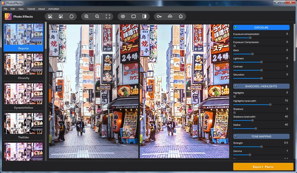 Vertexshare Photo Effects Screenshot