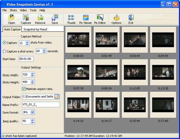 Video Snapshots Genius Business License Screenshot