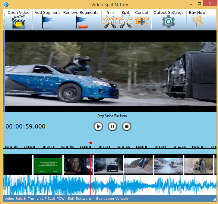 Video Editing Software, Video Split & Trim Screenshot