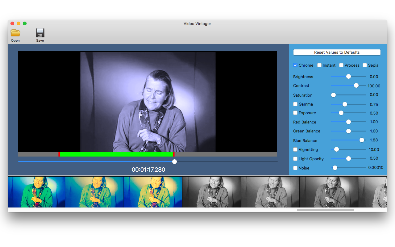Video Vintager, Video Software Screenshot