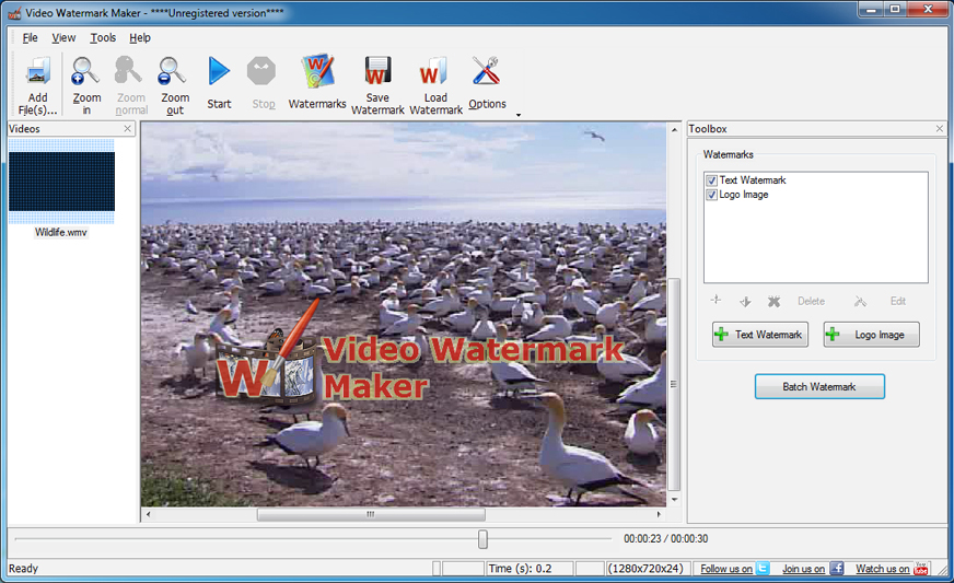 Video Watermark Maker Screenshot