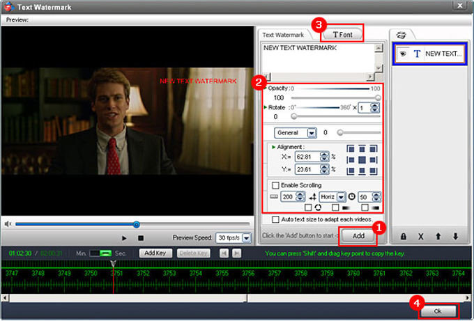 Video Watermark Pro, Watermark Software Screenshot