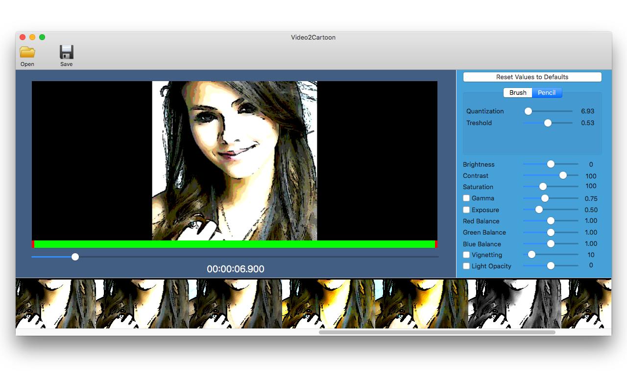 Video2Cartoon, Video Converter Software Screenshot