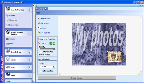 VideoDVDMaker PRO, Video Software Screenshot