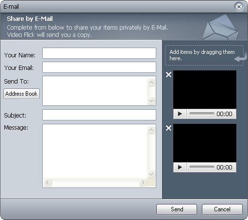 VideoFlick, Video Editing Software Screenshot