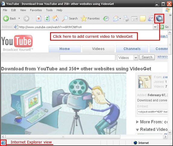 YouTube Downloader Software Screenshot
