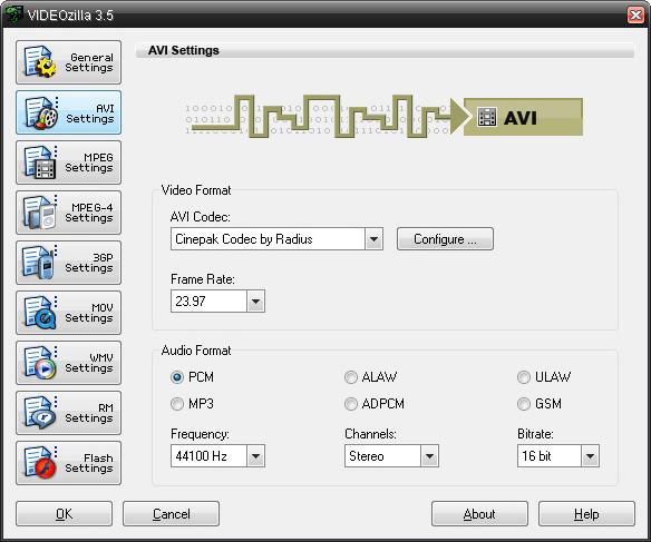 Videozilla, Video Software Screenshot