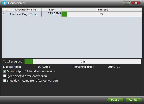 VidMobie Blu-ray Ripper, Video Software Screenshot