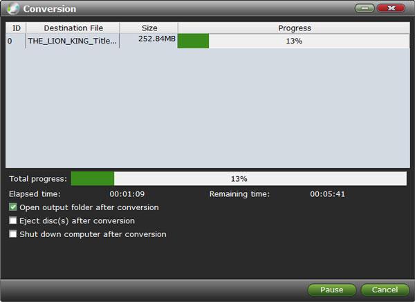 VidMobie DVD Ripper, Video Software Screenshot