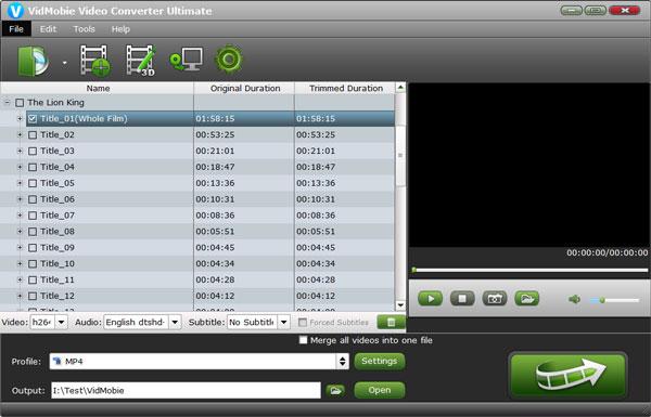 VidMobie Video Converter Ultimate Screenshot