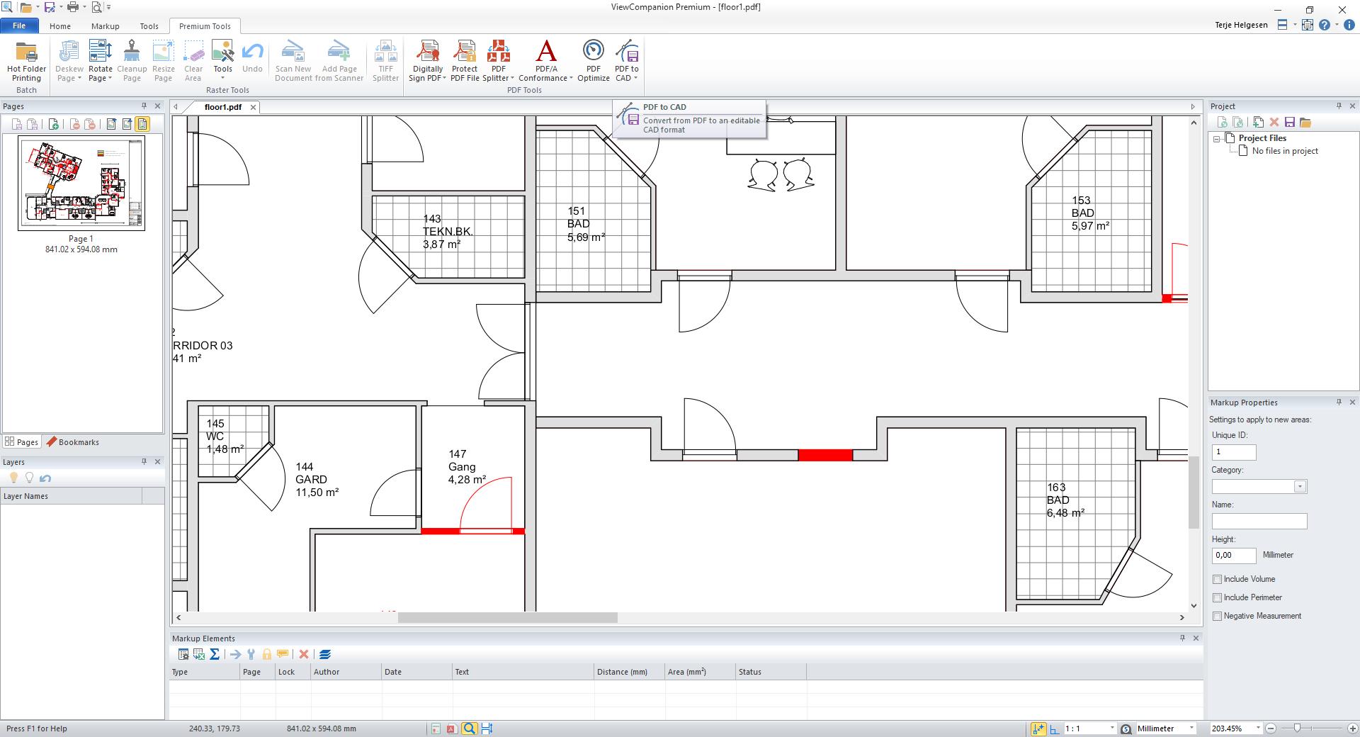 ViewCompanions Premium, PDF Conversion Software Screenshot