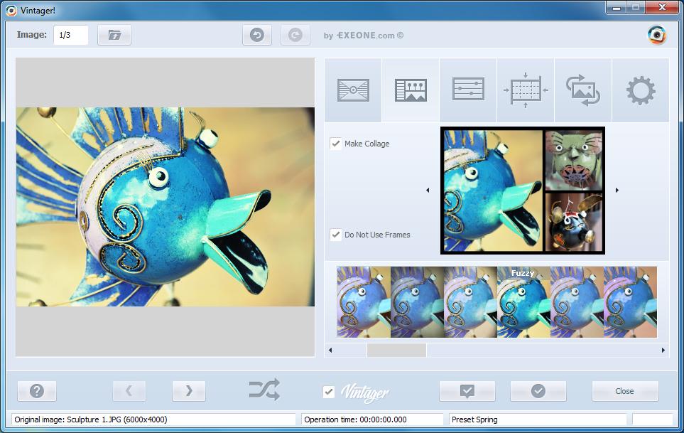 Vintager, Design, Photo & Graphics Software Screenshot
