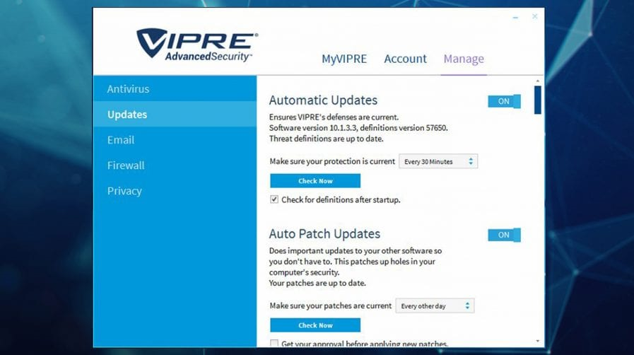 VIPRE Security Bundle Screenshot