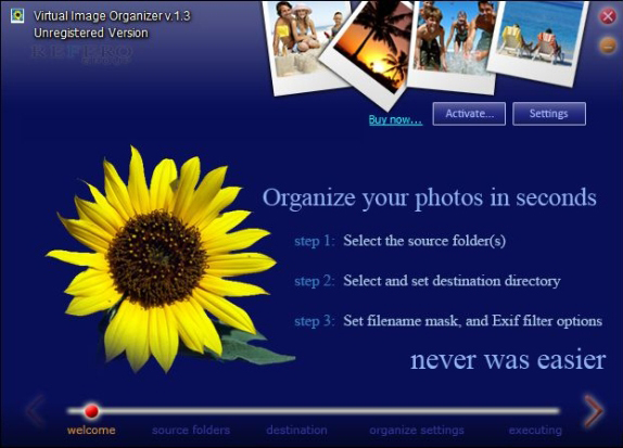 Virtual Image Organizer Screenshot