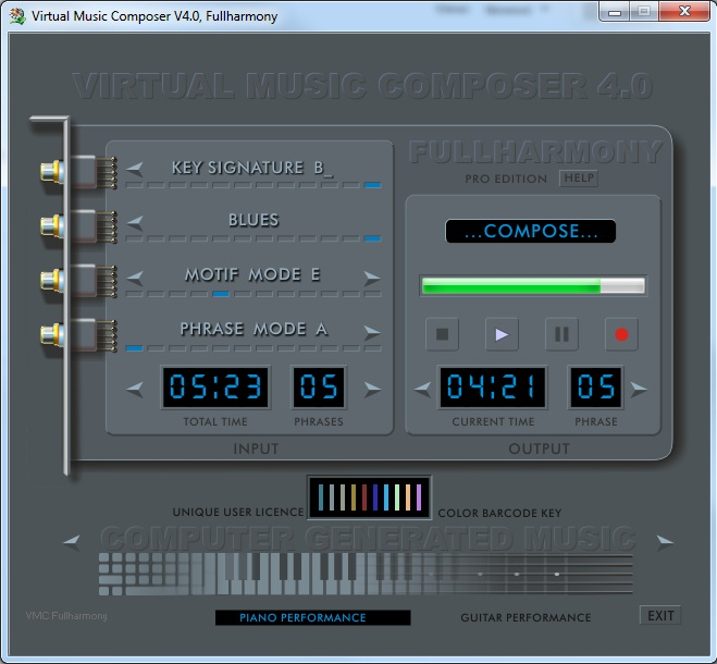 Virtual Music Composer V4.0 - FULLHARMONY