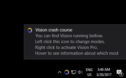Vision, Desktop Enhancements Software Screenshot