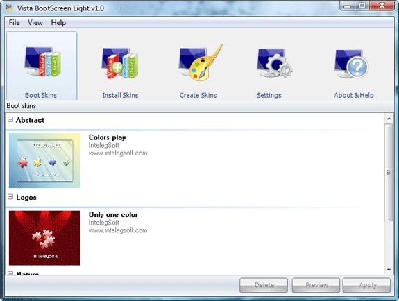Vista BootScreen Screenshot