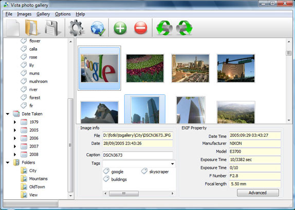 Vista Photo Gallery Business License (3 user pack), Website Builder Software Screenshot