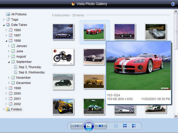 Vista Photo Gallery Business License (3 user pack) Screenshot
