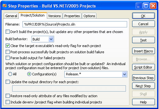 Visual Build, Development Tools Software Screenshot