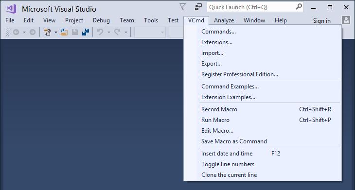 Visual Commander Professional Screenshot