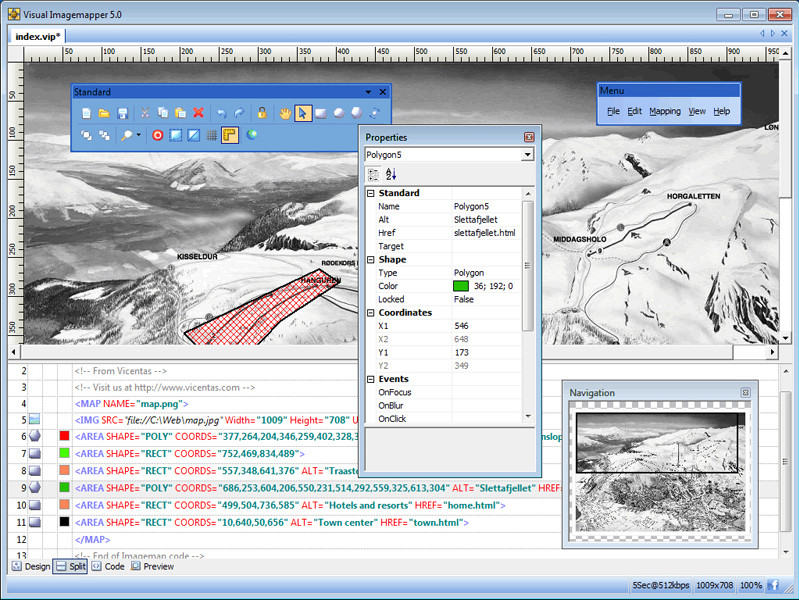 Visual Imagemapper 5, Development Software, Web Development Software Screenshot