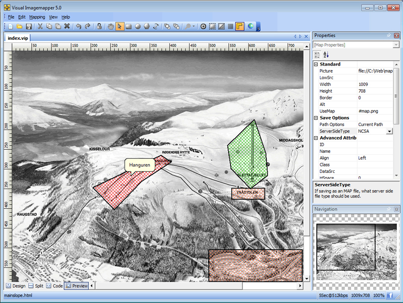 Visual Imagemapper 5, Web Development Software Screenshot