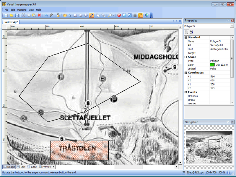 Development Software, Visual Imagemapper 5 Screenshot