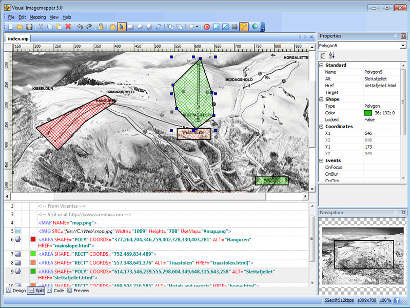 Visual Imagemapper 5, Development Software Screenshot