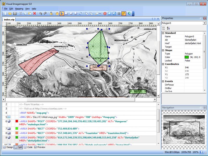 Visual Imagemapper 5, Development Software Screenshot