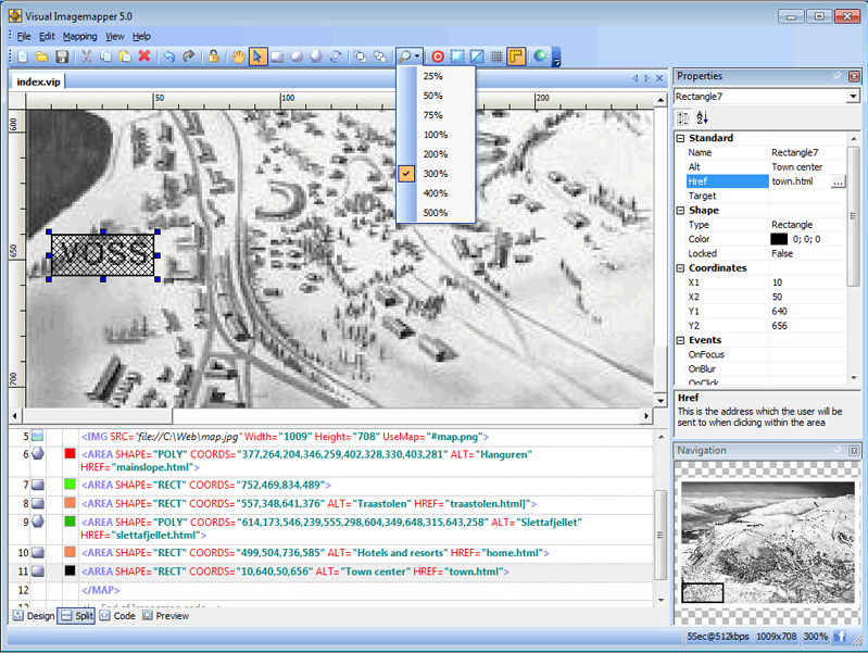 Web Development Software, Visual Imagemapper 5 Screenshot