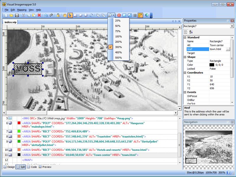 Web Development Software, Visual Imagemapper 5 Screenshot
