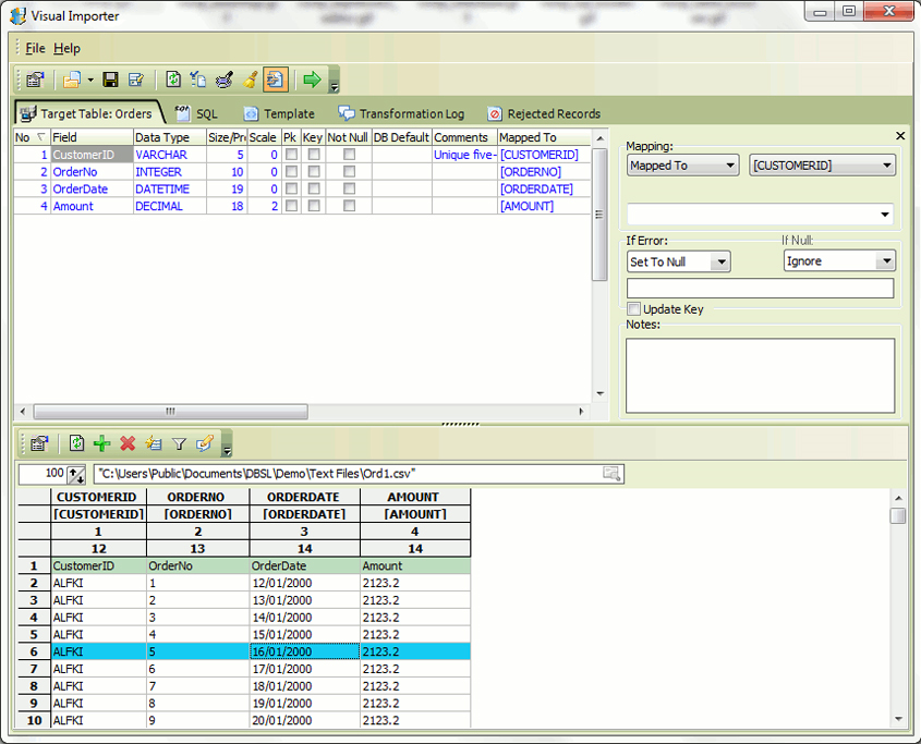 Visual Importer ETL, Development Software Screenshot