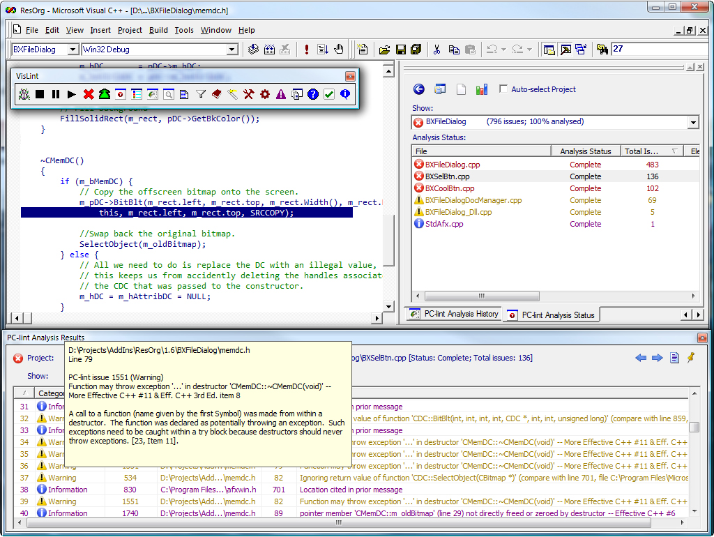 Development Tools Software, Visual Lint Standard Edition Screenshot