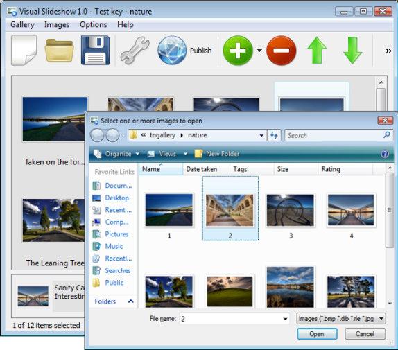 Visual Slideshow Screenshot