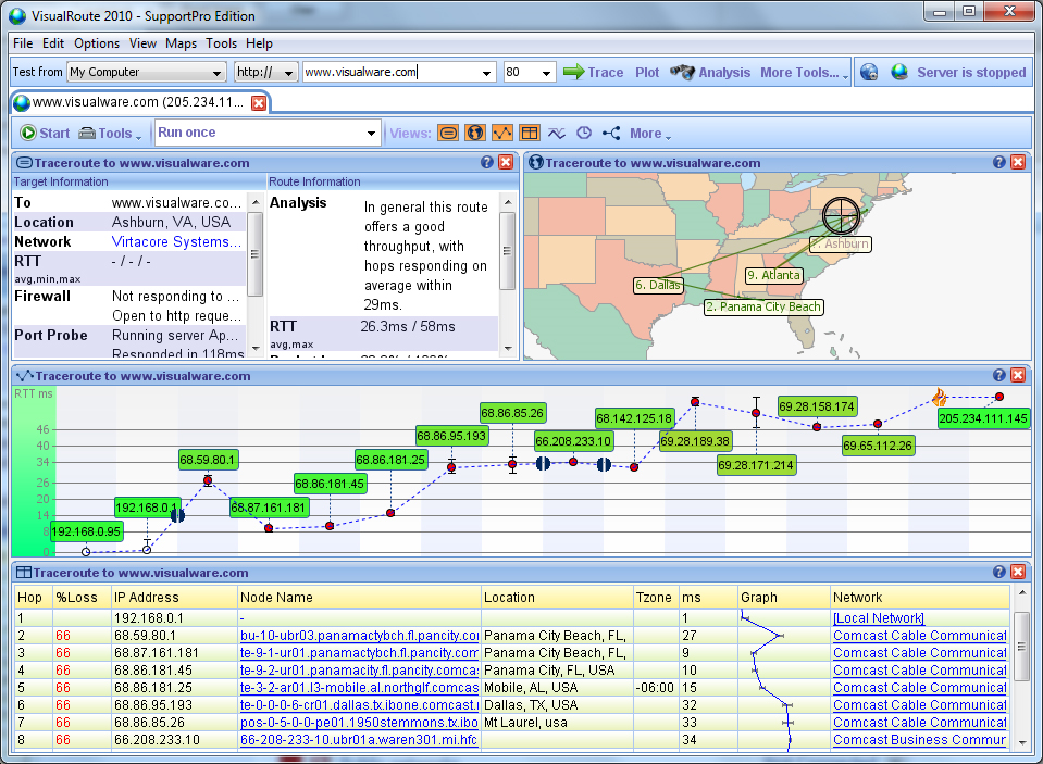 VisualRoute Business Edition Screenshot