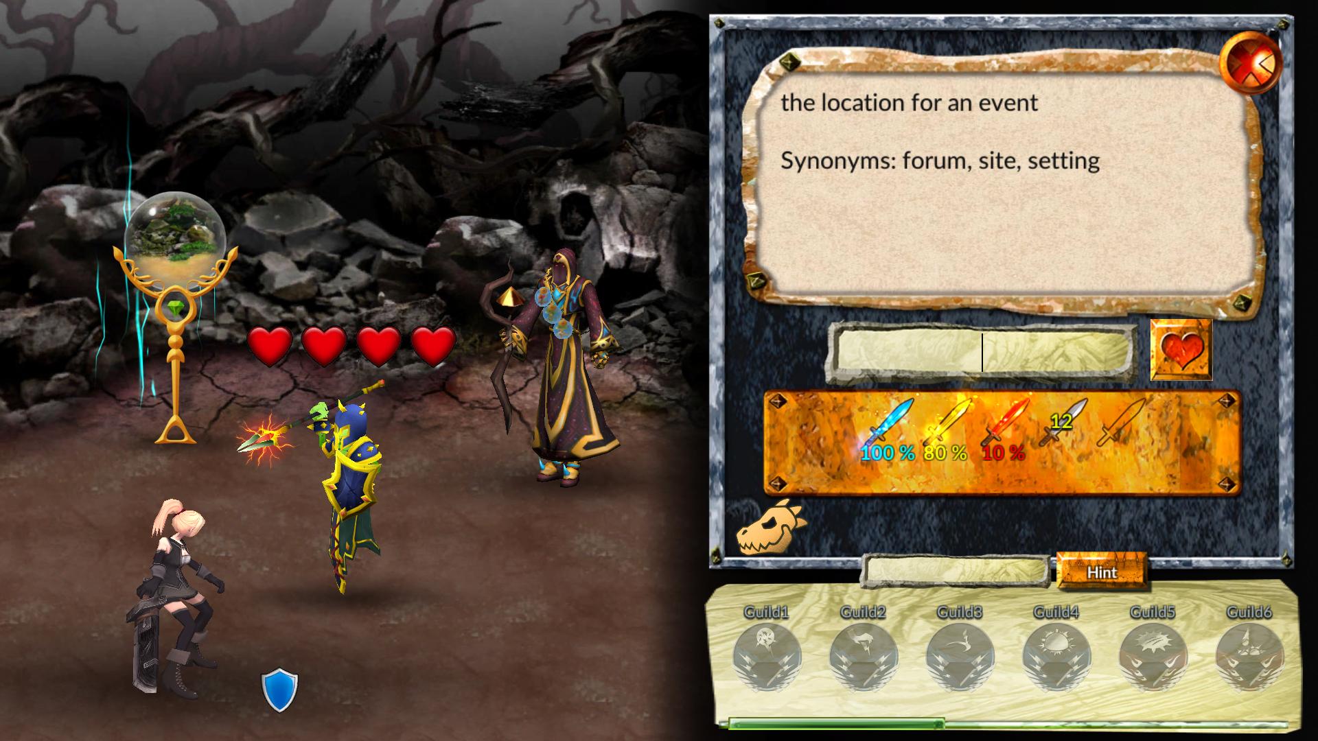 Educational Software, Vocabulary Quest Screenshot