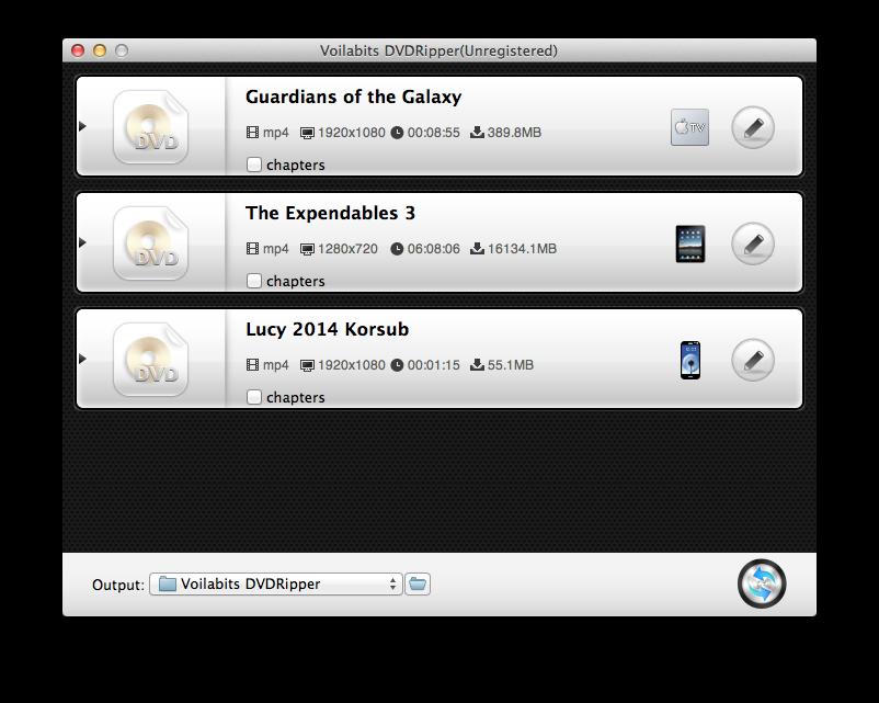 Voilabits DVDRipper for Mac Screenshot