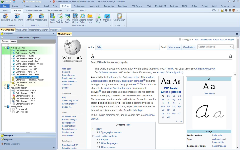 Document Management Software, Vole Briefcase Screenshot
