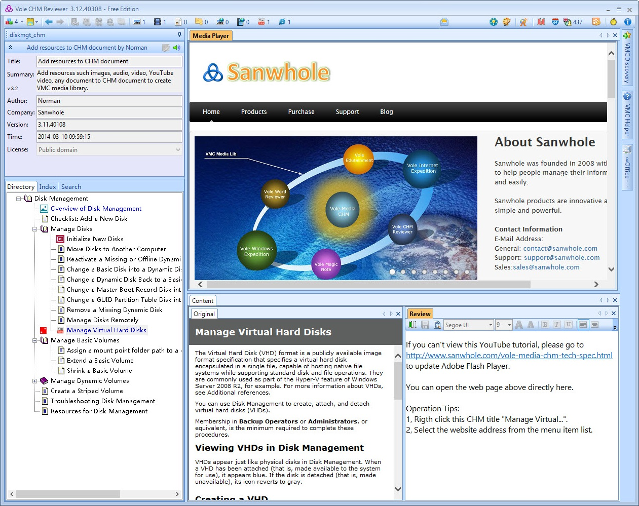 Vole CHM Reviewer Professional Edition, Hobby, Educational & Fun Software Screenshot