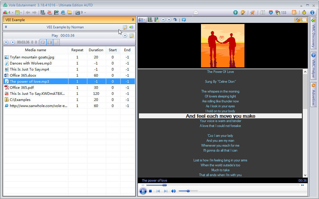 Video Software, Vole Edutainment Professional Edition Screenshot
