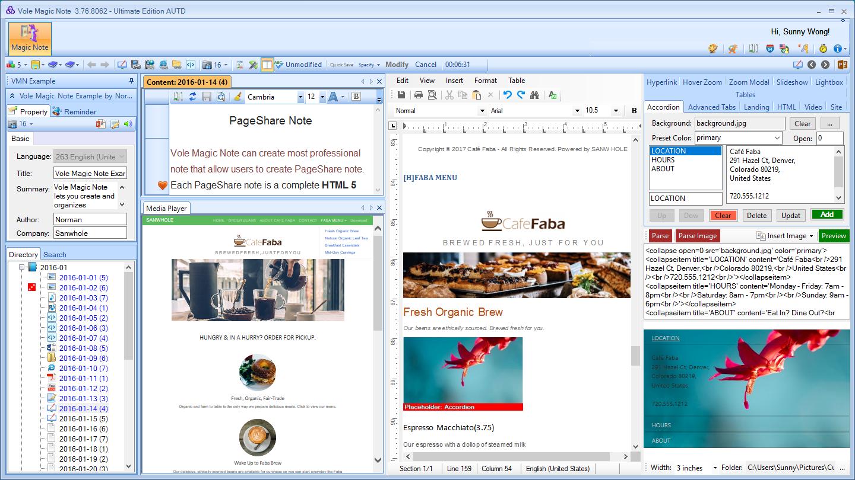 Vole Magic Note Professional Edition Screenshot