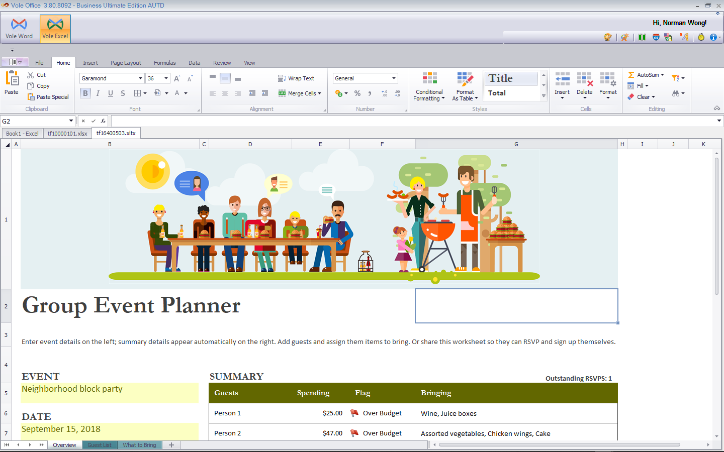 Vole Office, Microsoft Office Software Screenshot
