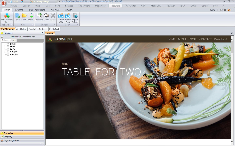 Development Software, Vole PageShare Professional Screenshot