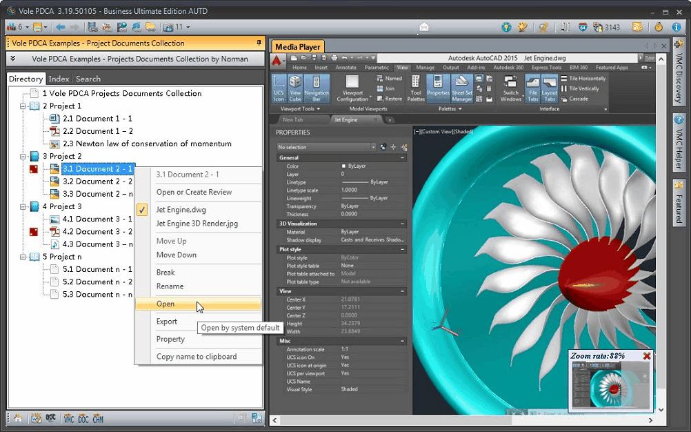 Vole PDCA, Productivity Software Screenshot